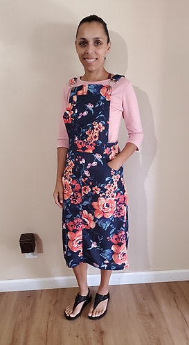 Angie Navy floral Jumper