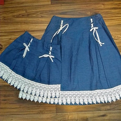 Crochet Denim skirt