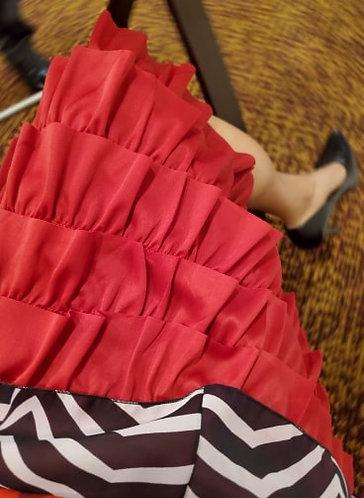Red Ruffle Slip Extender