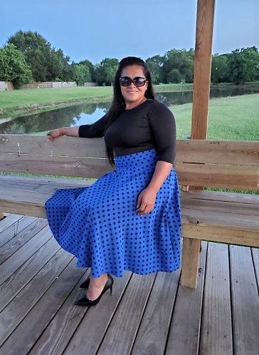 Royal Blue Julia Skirt