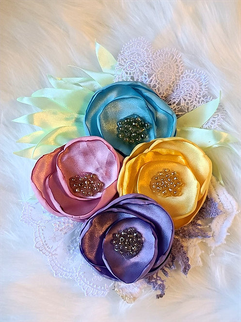 Pastel brooches