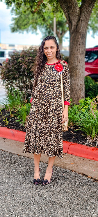 Linda leopard dress