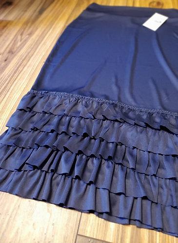 Navy Blue Ruffles Slip Extender