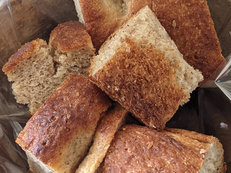 ライ麦とキビ糖のフォカッチャ