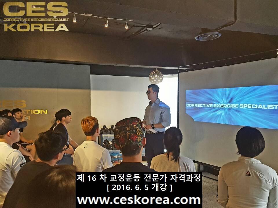 CES KOREA 16차 교정운동전문가 자격과정 1주차 (5)