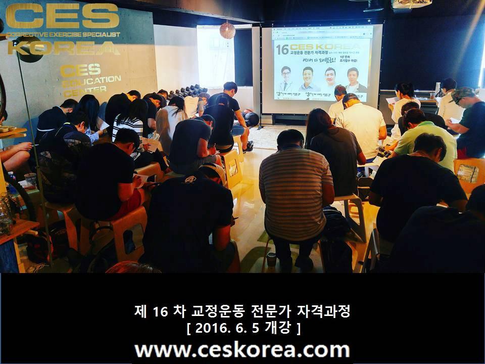 CES KOREA 16차 교정운동전문가 자격과정 1주차 (3)