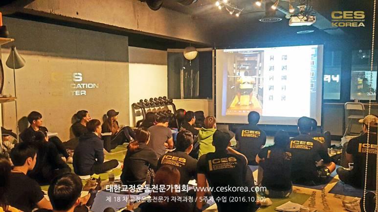 18차 CES KOREA 교정운동전문가 과정 5주차 (19)
