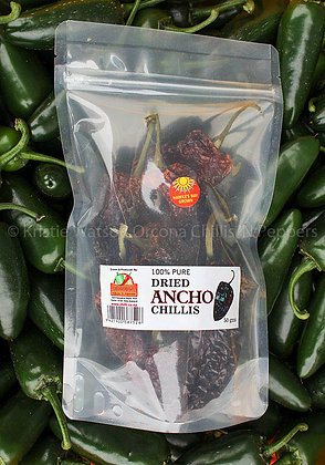 Whole Dried Ancho Chillis 50grms