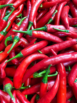 Red cayenne or Green 2nds per kilo