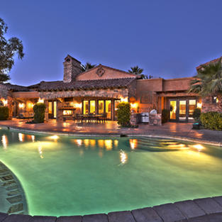BACK OF HOUSE AND POOL