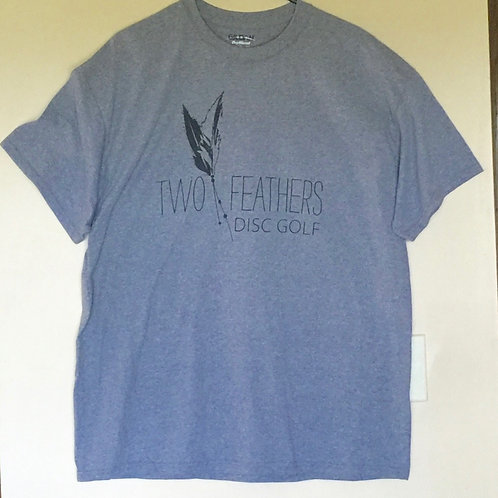 Two Feathers Disc Golf Logo T-shirt