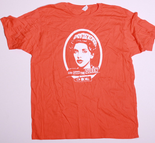 e027099d This is a one off test print shirt. Size XL on an orange shirt, of the  original God Save The Queen of Rock shirts. Sold on Courtney Love's tours  from 2013.