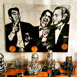 So happy to see my #ratpack piece displayed in their new home in Miami! #vinylpopart #streetart #pop