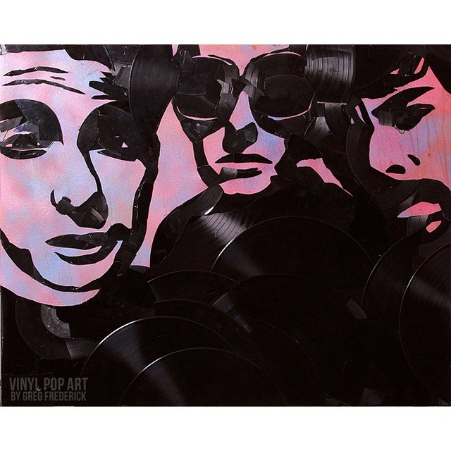 #beastieboys made out of #vinyl #records #vinylpopart #streetart #popart #mca #adrock #miked #brookl