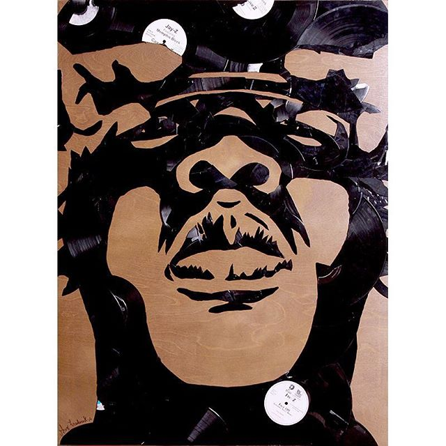 #jayz made out of #vinyl #records #lps #45s #lp #vinylpopart #jigga #vinylrecords #biggie #lilkim #s