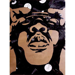 #jayz made out of #vinyl #records #lps #45s #lp #vinylpopart #jigga #vinylrecords #biggie #lilkim #s
