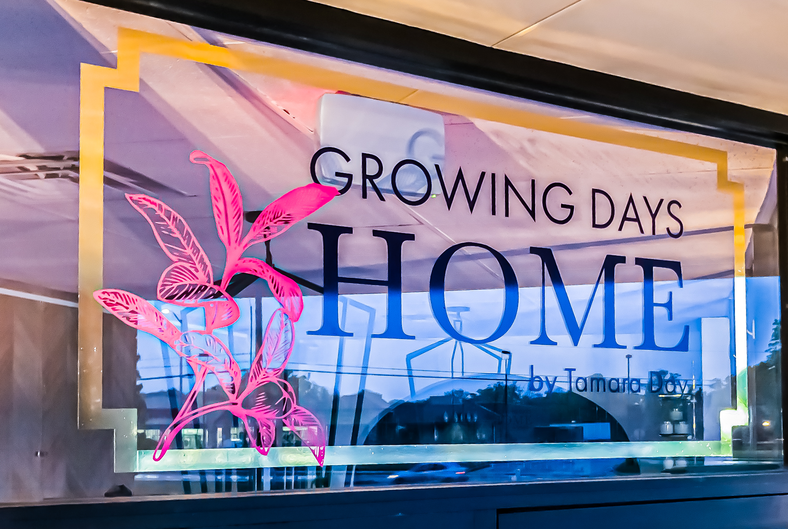 Growing Days Home Logo  Transom Window