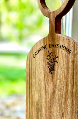 Growing Days Home Brand Engraved Cutting Board