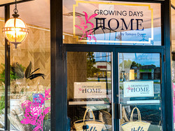 Growing Days Home Door Window Graphic