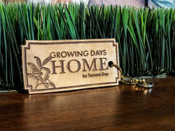 Growing Days Home Branded Leather Keychain