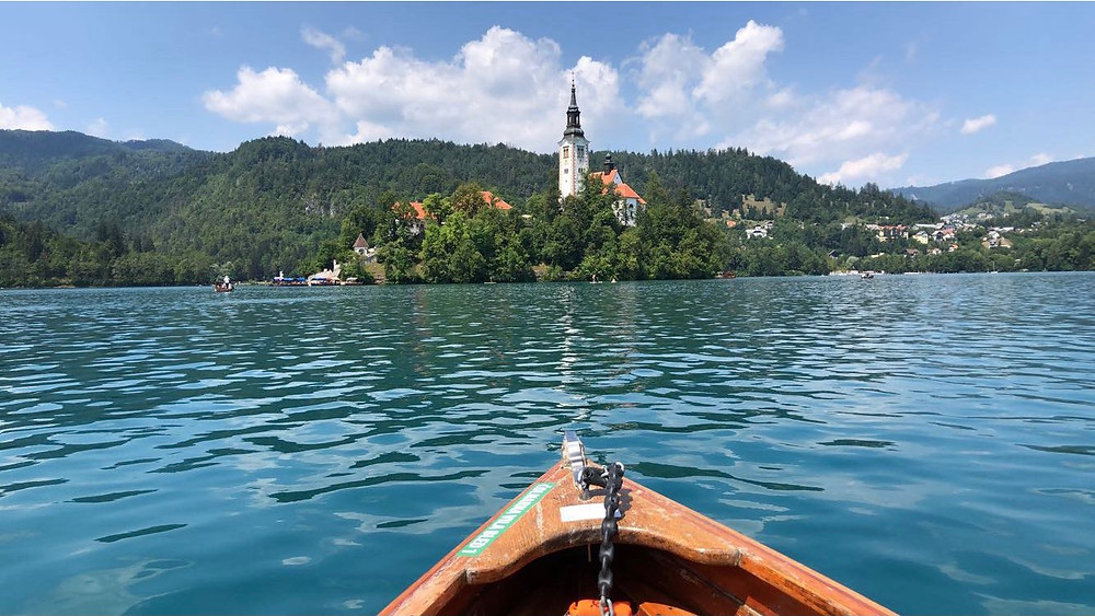 The boat ride in lake Bled