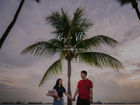 Kris + Sohvil | Tanjong Beach Sentosa | Proposal