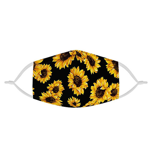 Sunflower Pattern | 100% Soft Pima Cotton Triple Layer Face Mask