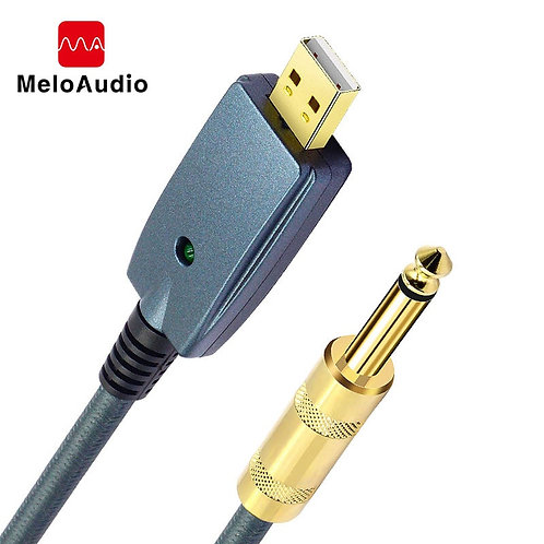USB to Guitar Cable, Male to 6.35mm (1/4 Inch) Jack