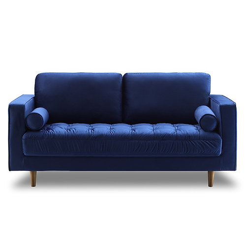 Bente Tufted Velvet Loveseat 2-Seater Sofa - Blue