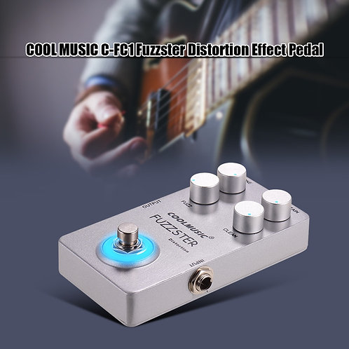 Coolmusic Fuzzster Distortion Effects Pedal, Great Fuzz for Guitar or Bass!