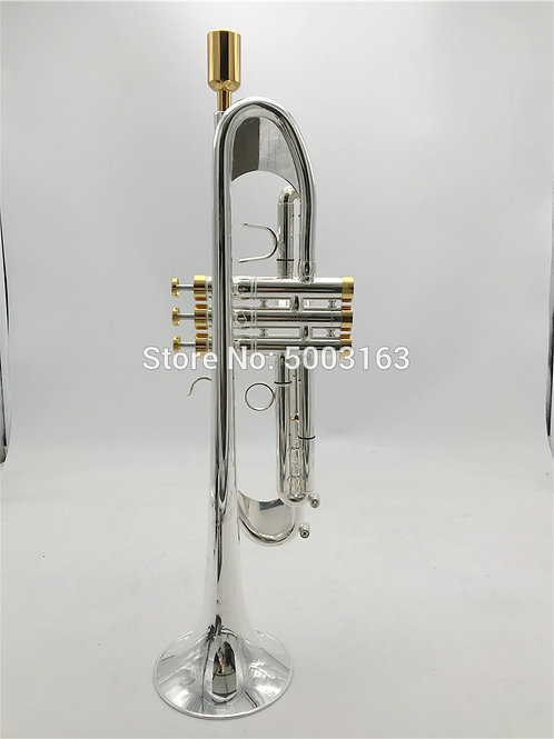 BULUKE 190s-77 Bb Silvered Trumpet