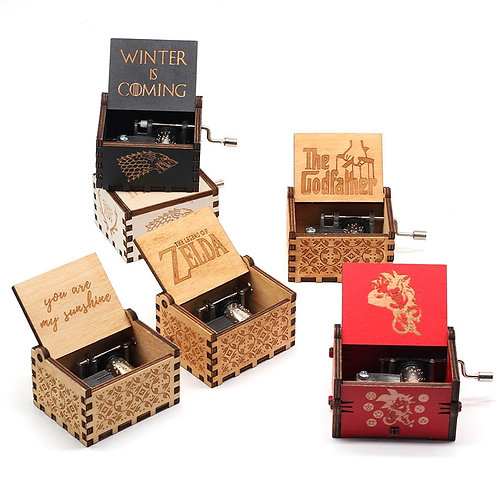 Hand-Cranked Music Box, ft. Game of Thrones, Legend of Zelda and Many More!