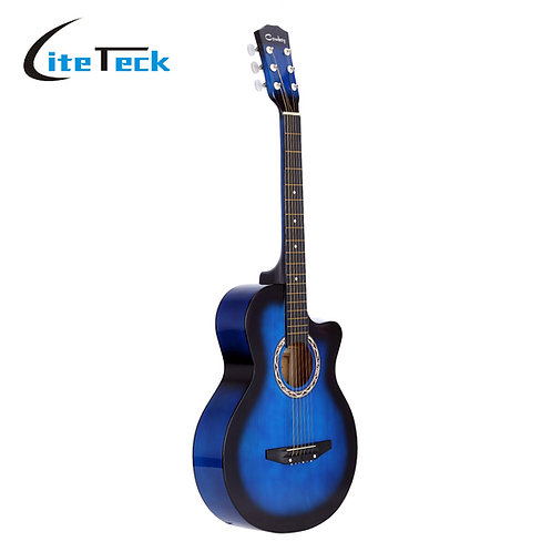"""38"""" Acoustic Guitar/Guitarra, Basswood Body, Comes in Black, Blue, Red & Purple"""