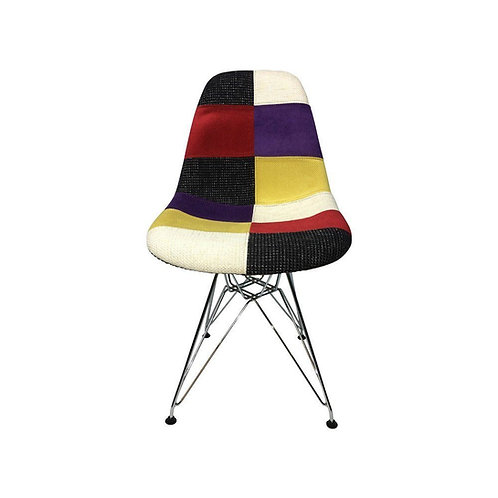Eiffel Patchwork Chair - C - Metal Legs