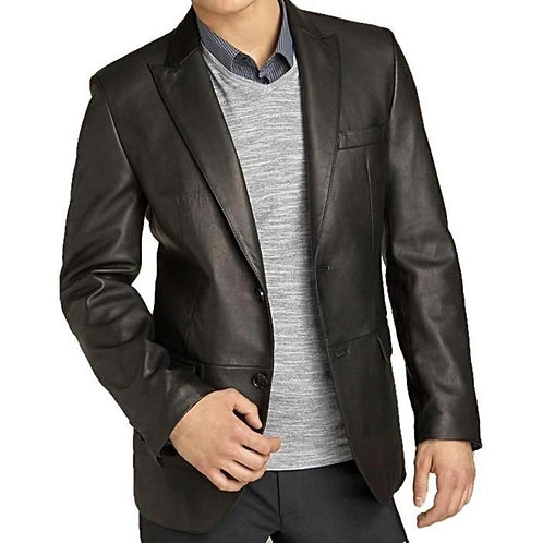 Mens Kilroy Lambskin Leather Blazer - Clerance