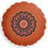 Thumbnail: Round Orange butterfly mandala cushion - reversible