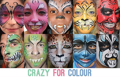 Colourful face painting London, kent shortlands, bromley crystal palace