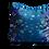 Thumbnail: Blue flying butterflies square cushion