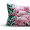 Thumbnail: Flock of flamingos velvet cushion - rectangle