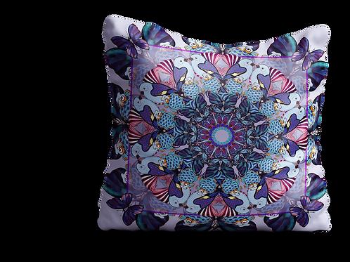 Purple bird and fish square Velvet cushion - 45cm