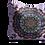 Thumbnail: Pink and purple Butterfly mandala square Velvet cushion - 45cm