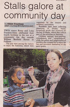 Artycat face painting in the press