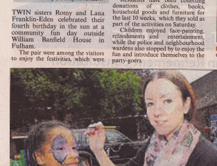Artycat Faces in the local press