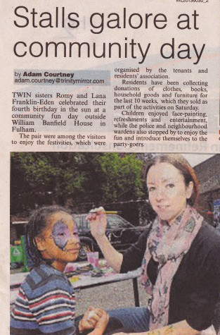 Artycat Faces in the Fulham Chronicle