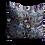Thumbnail: Zebras and butterflies in light blue/grey - velvet cushion 45cm