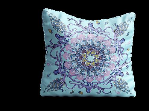 Under the sea octopus mandala velvet cushion