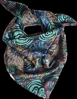 Ladies designer bee mandala silk scarf 90cm christmas gift london