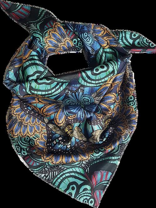 Bee mandala silk scarf