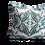 Thumbnail: Summer Garden green square cushion