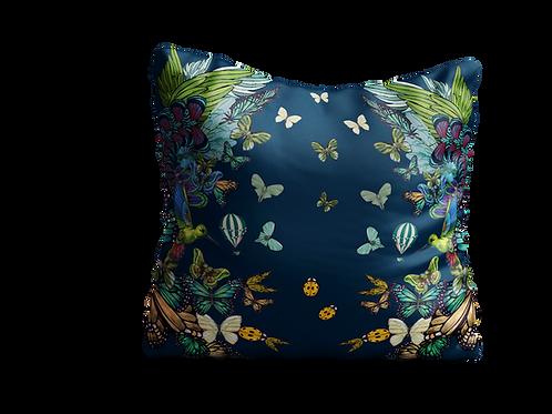 Green butterflies square cushion - 45cm